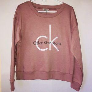 NWT Calvin Klein Dusty Rose Pink Sweatshirt